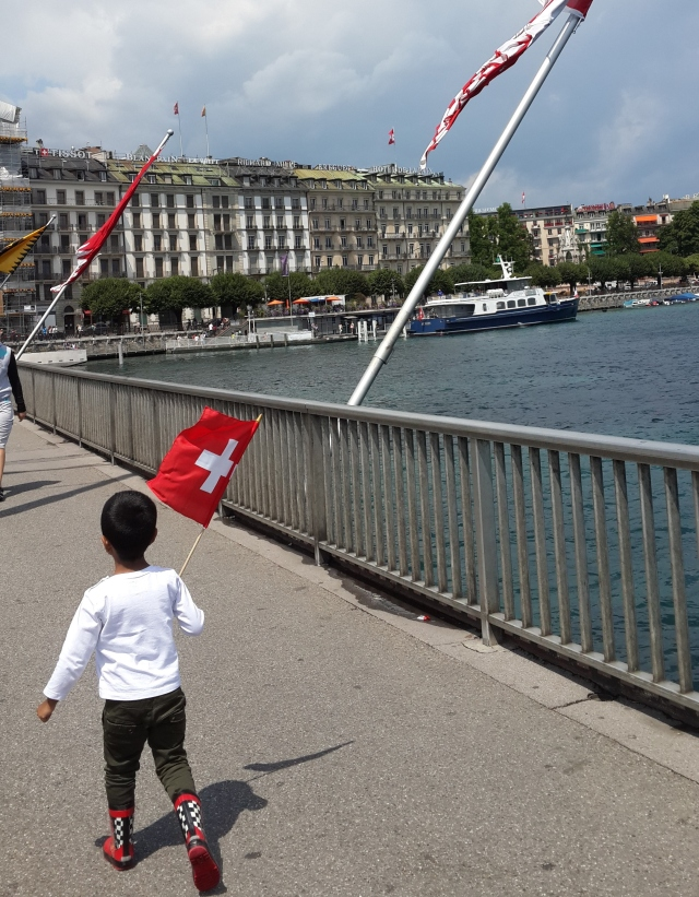 Lake Geneva on Swiss National Day